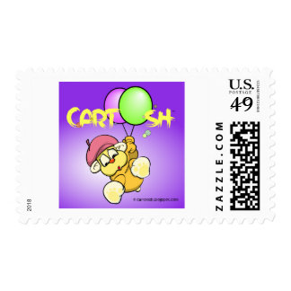 giggleCubby flys off bluish purple Postage Stamps