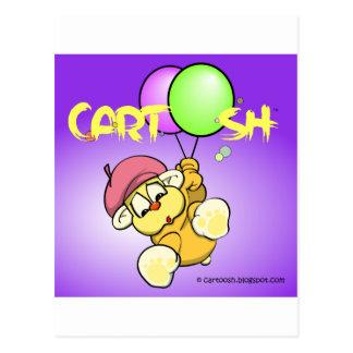 giggleCubby flys off (bluish purple) Postcard