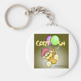 giggleCubby flys off (greenish brown) Keychain