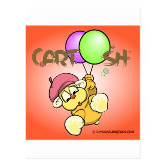 giggleCubby flys off (orange) Postcard