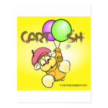giggleCubby flys off (yellow) Postcard