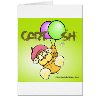 giggleCubby flys off (yellowish green) Card