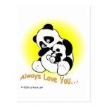 gigglePanda for Mother's Day Postcard