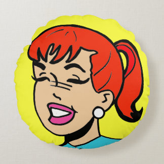 Giggles Comic Strip Round Pillow