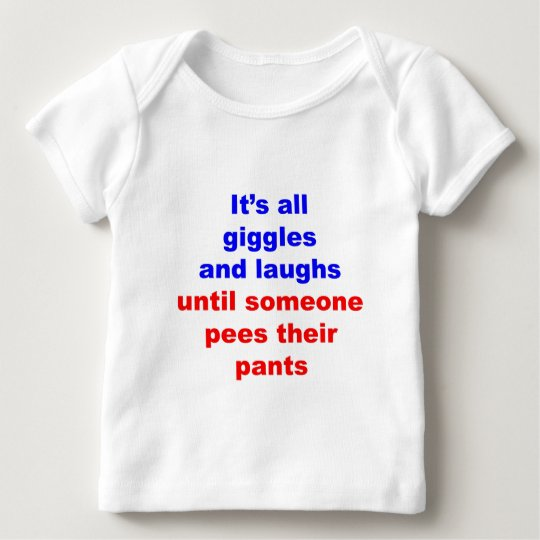 Giggles & Laughs Pees Pants Baby T-Shirt