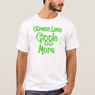 Giggles More, neon green ink T-Shirt