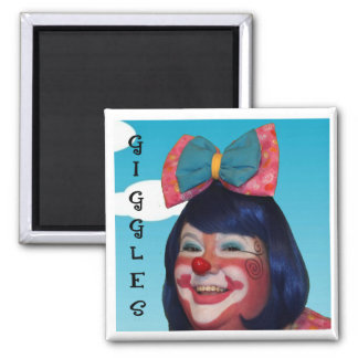 Giggles the Clown 2 Inch Square Magnet
