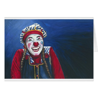 Giggles the Clown Painting Greeting Card