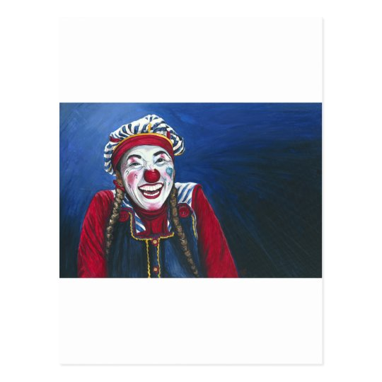 Giggles the Clown Painting Postcard