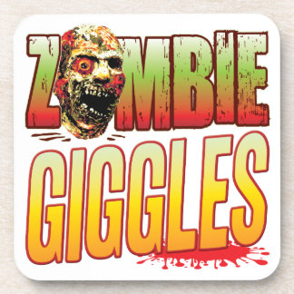 Giggles Zombie Head Beverage Coaster