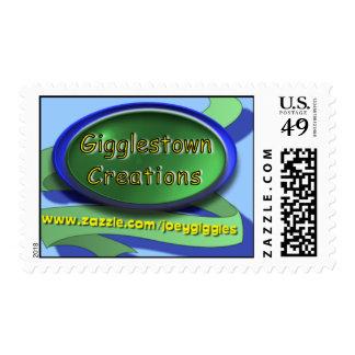 Gigglestown Creations logo stamp