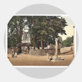 Giggleswick Church, Yorkshire, England classic Pho Round Sticker