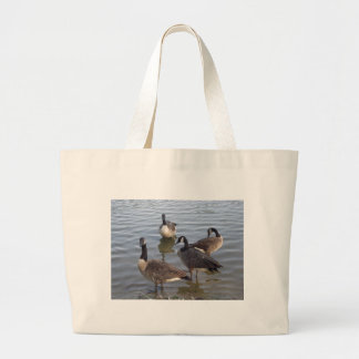 Giggling gaggle of geese canvas bag