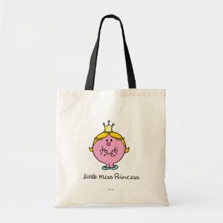 Giggling Little Miss Princess Budget Tote Bag