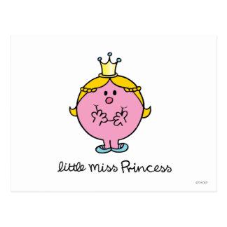 Giggling Little Miss Princess Postcard