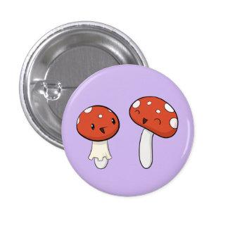 Giggling Mushrooms Pinback Button