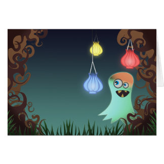 Giggly Ghost, greeting card