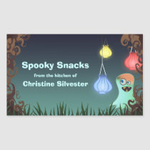 Giggly Ghost, halloween baking labels Rectangular Sticker