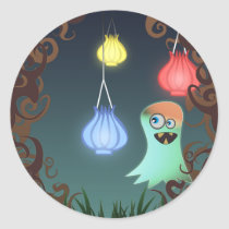Giggly Ghost, stickers Round Sticker