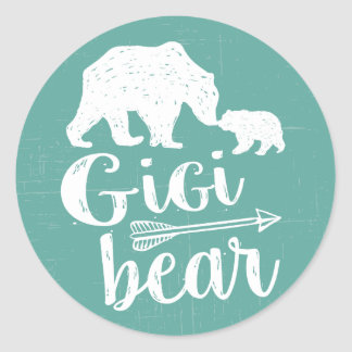 Gigi Bear Cute Great Grandma Gift Classic Round Sticker