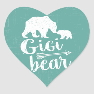 Gigi Bear Cute Great Grandma Gift Heart Sticker