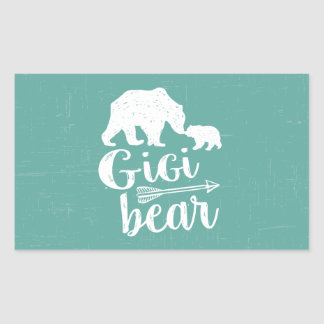 Gigi Bear Cute Great Grandma Gift Rectangular Sticker