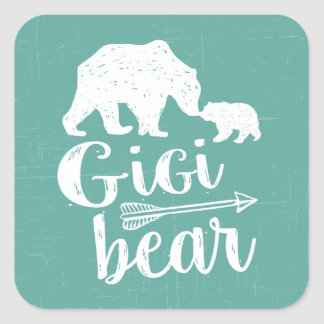 Gigi Bear Cute Great Grandma Gift Square Sticker