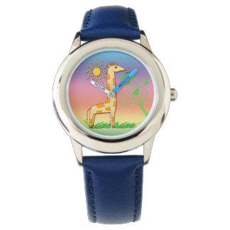 Gigi el reloj del niño lindo de la jirafa
