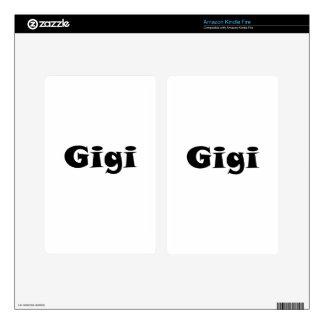 Gigi Kindle Fire Skin