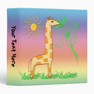 """Gigi la jirafa 1,5"""" carpeta de los niños"""