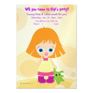 """Gigi & Mimi (Mini Picasso) Party Invite 5"""" X 7"""" Invitation Card"""