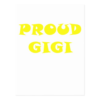 Gigi orgulloso tarjeta postal