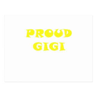 Gigi orgulloso tarjetas postales