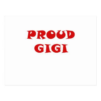 Gigi orgulloso postal