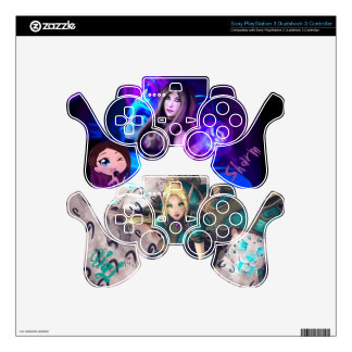 Gigi & Sharm Sony PS3 Dual Shock Controller Skin Decal For PS3 Controller
