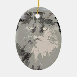 Gigi the cat ceramic ornament