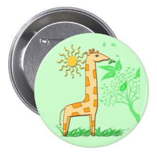 Gigi the Giraffe Cute Kid's Button
