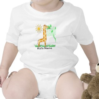 Gigi the Giraffe Cute Kid's T-Shirts