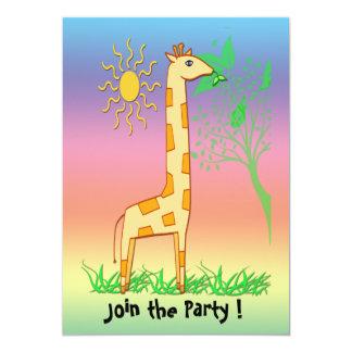 """Gigi the Giraffe Kid's Invitation 5"""" X 7"""" Invitation Card"""