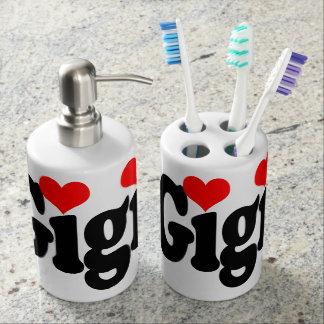 Gigi Toothbrush Holder and Soap Dispenser Set