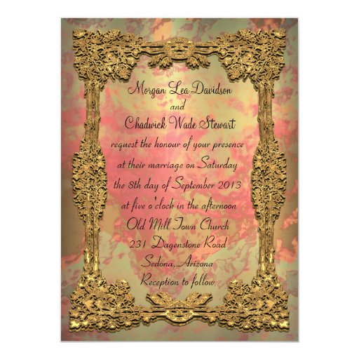 "Gigifarah Formal Wedding Invitation 5.5"" x 7.5"""