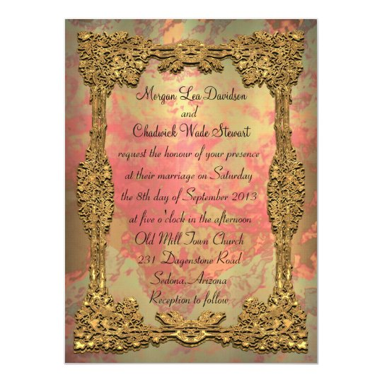 "Gigifarah Formal Wedding Invitation 5.5"" x 7.5"""