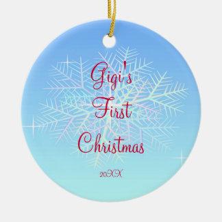 Gigi's First  Christmas Snowflake Ornament
