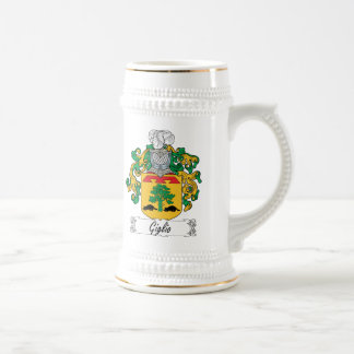Giglio Family Crest Beer Stein