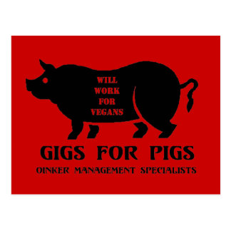 Gigs for Pigs Postcard