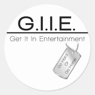 GII Multi-Items Basic Classic Round Sticker