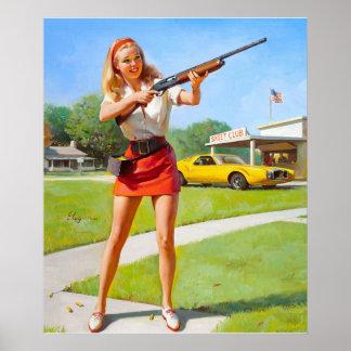 GIL ELVGREN Club Pin Up Art Poster