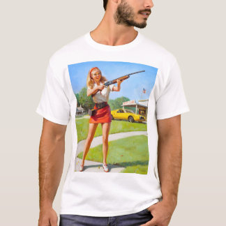 GIL ELVGREN Club Pin Up Art T-Shirt