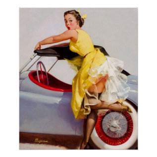 Gil Elvgren Cover Up Pin Up Art Poster at Zazzle