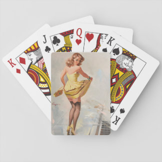 GIL ELVGREN Dampened Doll Pin Up Art Playing Cards